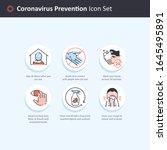 editable vector of coronavirus... | Shutterstock .eps vector #1645495891