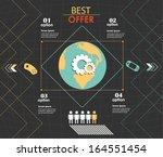 conceptual vector design... | Shutterstock .eps vector #164551454