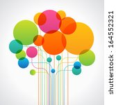 set of colored circles and... | Shutterstock .eps vector #164552321