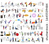 set of 69 flat cartoon... | Shutterstock .eps vector #1645539484