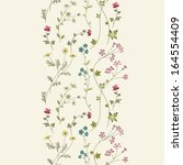 seamless floral background with ... | Shutterstock .eps vector #164554409