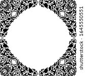 square frame in oriental style. ... | Shutterstock .eps vector #1645550551