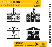 school icon isolated on white...
