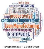 lean manufacturing in word... | Shutterstock . vector #164559905