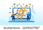 hashtags illustration flat...   Shutterstock .eps vector #1645637587