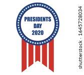 presidents day 2020 badge flyer | Shutterstock .eps vector #1645728034