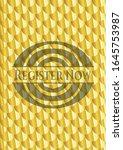 register now gold shiny badge.... | Shutterstock .eps vector #1645753987