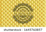 aground gold shiny badge.... | Shutterstock .eps vector #1645763857