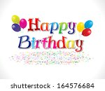 abstract happy birthday... | Shutterstock .eps vector #164576684