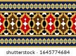 morocco seamless border.... | Shutterstock . vector #1645774684
