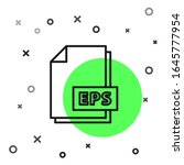 black line eps file document.... | Shutterstock .eps vector #1645777954