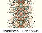 morocco disintegration template.... | Shutterstock . vector #1645779934