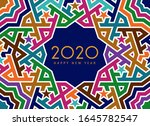 new year 2020 greeting card | Shutterstock . vector #1645782547