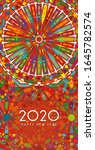 new year 2020 greeting card | Shutterstock . vector #1645782574