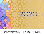 new year 2020 greeting card | Shutterstock . vector #1645782601