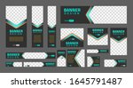 set of creative web banners of... | Shutterstock .eps vector #1645791487