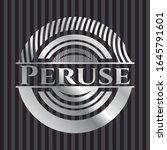 peruse silver badge. vector... | Shutterstock .eps vector #1645791601