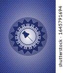 paper pin icon inside badge... | Shutterstock .eps vector #1645791694