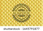 agnostic gold shiny badge.... | Shutterstock .eps vector #1645791877