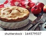 Homemade Apple Pie With Fresh...