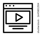 multimedia play button icon in...