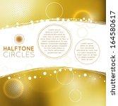 golden halftone circles   Shutterstock .eps vector #164580617