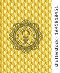 women cycle icon inside golden... | Shutterstock .eps vector #1645818451