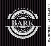bark silvery shiny badge.... | Shutterstock .eps vector #1645818544