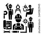 arquiteto,preto,pinças,civis,computador,construção,artesão,projecto,elaboração,desenho,elementos,engenheiro,engenharia,equipamento,figura