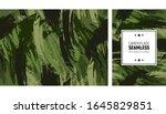 seamless brush stroke pattern.... | Shutterstock .eps vector #1645829851