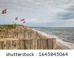A Row Of Danish Flags On The...