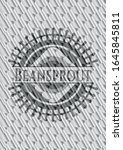 beansprout silver badge or... | Shutterstock .eps vector #1645845811