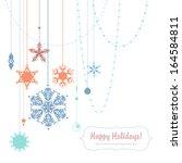 happy holidays illustration... | Shutterstock . vector #164584811