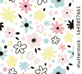 Spring Blooming Floral Vector...