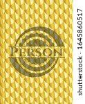 person golden badge or emblem.... | Shutterstock .eps vector #1645860517
