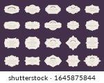 retro elegant labels. vintage... | Shutterstock .eps vector #1645875844