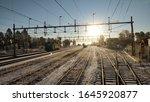 Wintermorning At Work In Sweden