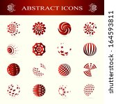 unusual icons set   isolated on ... | Shutterstock .eps vector #164593811