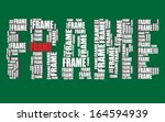 frame typography 3d text word... | Shutterstock .eps vector #164594939