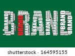 brand typography 3d text word... | Shutterstock .eps vector #164595155