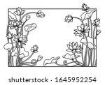 Lotus Flower Reactangle Frame ...