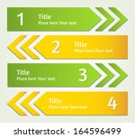 set of raster infographic... | Shutterstock . vector #164596499