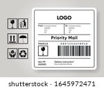 shipment label template. cargo...