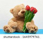 Cute Brown Teddy Bear With...