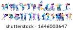 set people friendship  friends... | Shutterstock .eps vector #1646003647