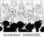 kids acting at the stage in a... | Shutterstock .eps vector #1646022001