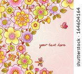 bright floral pattern with...   Shutterstock .eps vector #164604164