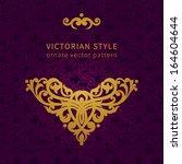 vector baroque ornament in... | Shutterstock .eps vector #164604644
