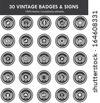 badges   sign collection of...   Shutterstock .eps vector #164608331