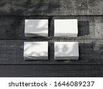 four stacks of white business...   Shutterstock . vector #1646089237